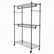rolling closet racks for clothes 3 tier rolling closet garment rack with rod