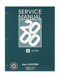 2000 Cadillac Deville Factory Service Manual 3 Volume Set