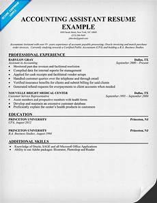 Accounts Assistant Cv Example Accounting Assistant Resume Sample Accountant Resume