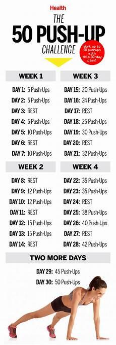 Push Up Chart For Beginners 50 Pushups Challenge