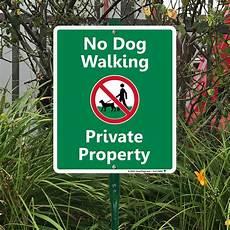 Dog Walking Sign No Dog Walking Property Sign Amp Stake Kit For Yard