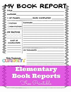 Book Report Elementary Book Reports Made Easy Only Curiosity