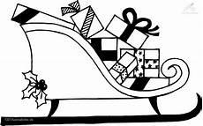 ausmalbild weihnachtsschlitte present coloring