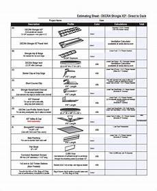 Estimating Sheet Free 9 Sample Estimate Sheet Templates In Excel Pdf