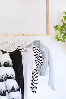 hang clothes diy hanging clothes rail burkatron