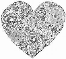 Ausmalbilder Erwachsene Herz Ausmalen Als Anti Stress Valentinstag Herz Mit Blumen 1