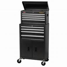 stanley 24 in w 8 drawer tool chest and cabinet combo