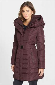 kensie coats for neumaticos kensie belted feather jacket in wine lyst