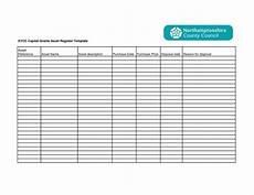 Asset Record Template Fixed Asset Register Excel Template Sample Templates