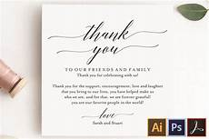 Wedding Thank You Card Examples Wedding Thank You Card Thank You Printable Wedding Table