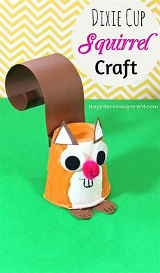 dixie cup squirrel craft animal crafts for fall
