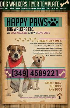 Dog Walker Flyers Dog Walkers Flyer Template