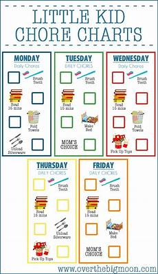 Toddler Chore Chart 10 Free Printable Chore Charts For Kids