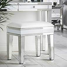 beautify mirrored dressing table stool chair white with
