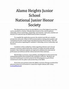 letter of recommendation for nhs student recommendation letter for national honor society free