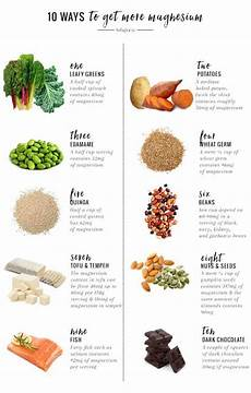 Magnesium Rich Foods Chart 10 Ways To Get More Magnesium And Why You Should Hello