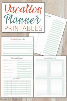 Planning For Vacation Vacation Planner Printables