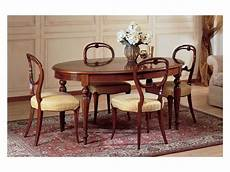 sala da pranzo inglese oval table luxury classic stile in decorated wood