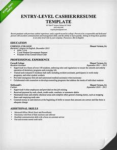 Resume For A Cashier Example Entry Level Cashier Resume Template For Download Free
