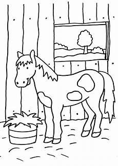 ausmalbilder pferde im stall mit bildern ausmalbilder