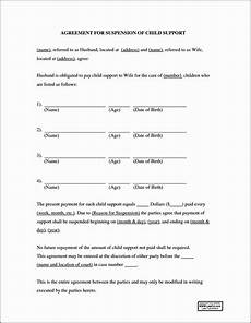 Child Support Letters Child Support Suspension Agreement Letter Example
