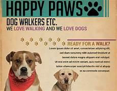 Dog Walker Flyers Dog Walkers Flyer Template On Behance