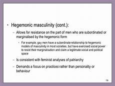 Hegemonic Masculinity Hegemonic Masculinity