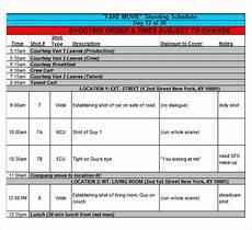 Shooting Schedule Sample Free 12 Sample Shooting Schedules In Pdf Ms Word Excel
