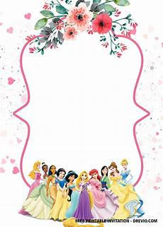 Disney Princesses Invitations Free Disney Princess Invitation Template For Your Little