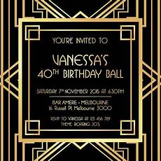 1920s Invitation Template Free Jack Daniels In 2019 Great Gatsby Invitation Black