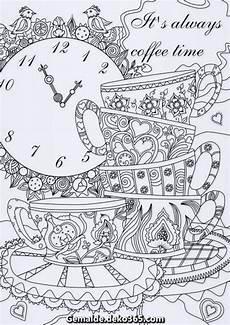 es ist immer kaffeezeit erwachsene druckbare malvorlagen