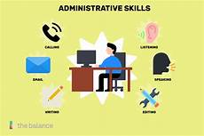 Administrative Skills Examples Administrative Skills List And Examples