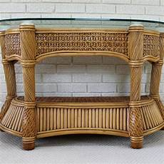 Bamboo Sofa Table 3d Image by Wicker And Rattan Patio Console Sofa Table By