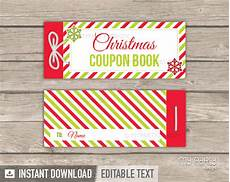 Christmas Coupon Book Christmas Coupon Book Red Green Printable Pdf My Party
