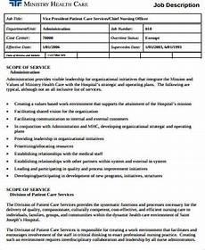 Medical Administration Job Description Free 9 Sample Healthcare Administration Job Descriptions