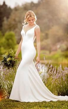 classically simple wedding dress essense of australia