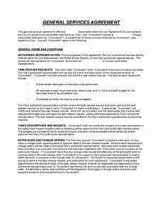 Generic Contract For Services Free 9 Sample Service Agreement Contracts In Ms Word
