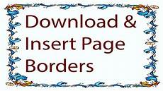 Word Design Online Free Microsoft Word How To Create Coustom Page Borders