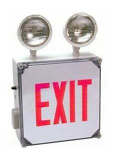 Location Exit Light Combo Lightworld Indoor Or Outdoor Location Exit Sign And