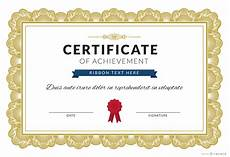 Free Editable Certificate Templates Certificate Of Achievement Maker Editable Design