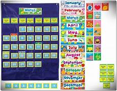 Scholastic Calendar Pocket Chart Custom Calendar Pocket Chart Teacher Classroom English
