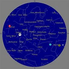 Sky Chart Colorado Springs Astronomical Society Space Foundation