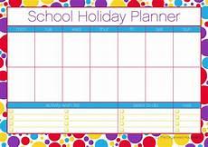 Free Printable School Planner Printable Free School Holiday Planner The Organised