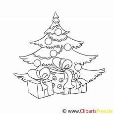 geschenk tannenbaum ausmalbild malvorlage zum drucken und