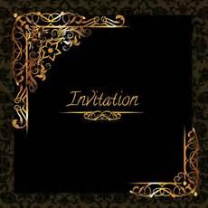 E Invitation Design Elegant Golden Design Invitation Template Free Vector