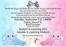 Baby Shower Invites Templates Word Baby Shower Invitation Ideas For Twins Free Printable