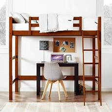 your zone collection wood loft bed walnut walmart