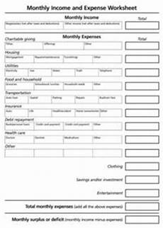 Income And Expense Worksheet Monthly Income And Expense Worksheet Worksheet For 11th