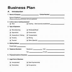 Blank Business Plan Template Business Plan Template Proposal Sample Printable