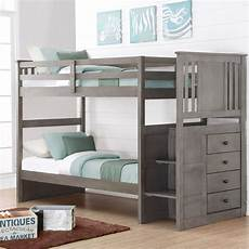 donco stairway bunk bed slate gray